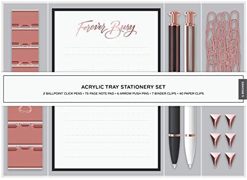 U Brands Desktop Acrylic Tray Stationery Set Office Supplies Set 57-Pieces 2259A04-16