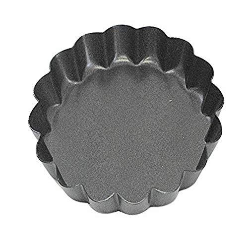 CybrTrayd R&M 3 Non-Stick Tart Pan Dark Grey