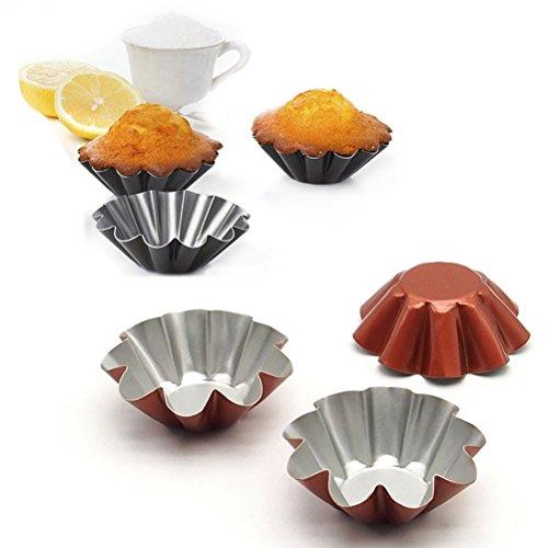 Mini Tart PansNon Stick Baking Bake Muffin Cupcake Tin Mold Round Egg Tart TinsPack of 10