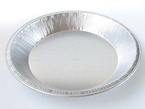 DisposableReusable Heavy Duty Aluminum 9 Deep Pie Pans 977- 30 oz Capacity 50
