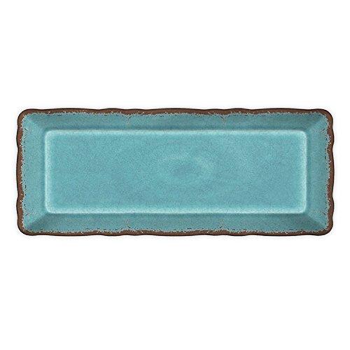 Le Cadeaux Antiqua Baguette Tray Turquoise