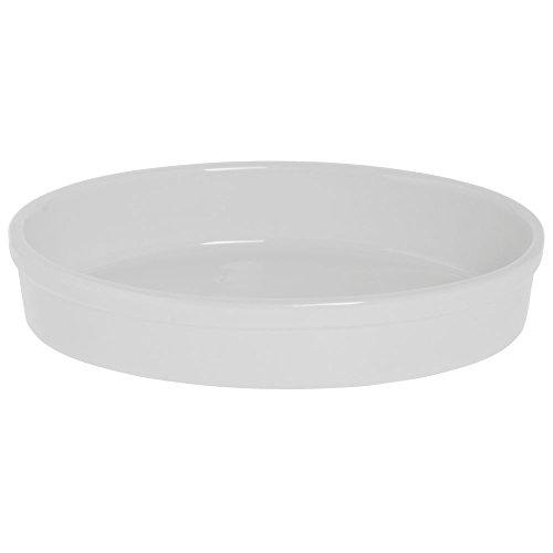 BIA Cordon Bleu 1 12 qt Oval White Ceramic Baker - 10 34L x 7 12W x 2D