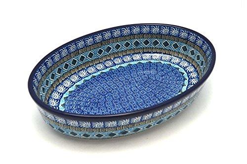 Polish Pottery Baker - Oval - Medium - Aztec Sky