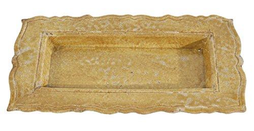 Established 98 20897 Decorative Rustico Tuscan Decorative Platter Sun Yellow