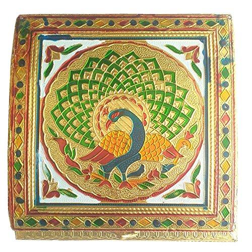 Serving Tray Decorative Platter Beautiful Snack Box with unique Meenakari work  Indian Handicraft_EB_Figur_050