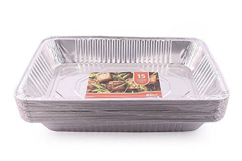 JETfoil Aluminum Foil Steam Table Pans Full Size Deep Pack of 15 Roaster pans