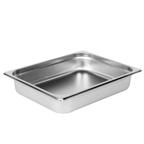 Excellante Half Size 2-12-Inch Deep 24 Gauge Anti Jam Pans