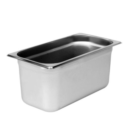 Excellante Third Size 6-Inch Deep 24 Gauge Anti Jam Pans