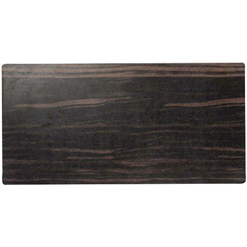 Elite Melamine Faux Wood Platter Zebrawood 20L x 10W x 12H