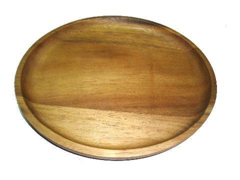 Natree Acaciaware 75-Inch Round Acacia Wood Platter Dia 19x14 Natural