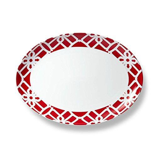 B by Brandie PLPR0104 Truman Porcelain Platter 13 Red