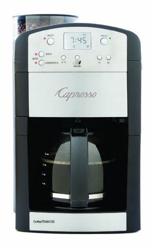Capresso 46405 CoffeeTeam GS 10-Cup Digital Coffeemaker with Conical Burr Grinder