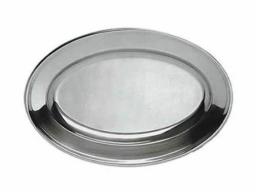 Update International OP-14 13 34 x 9-12 Oval Stainless Steel Platter
