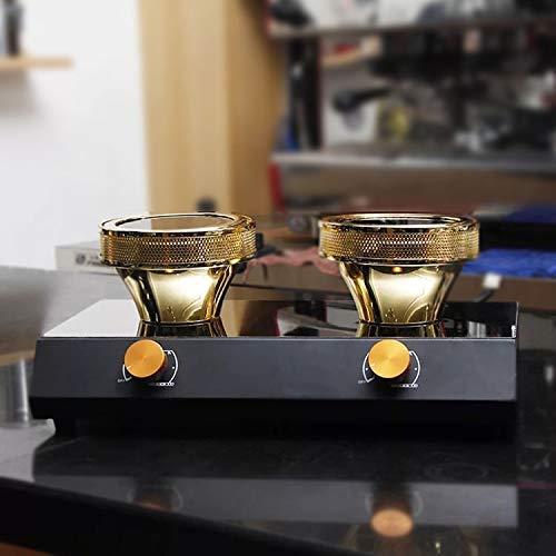 TOPCHANCES 220V Halogen Beam Heater Burner Infrared Heat for Hario Yama Syphon Coffee Maker 2 Heads Halogen Beam Heater