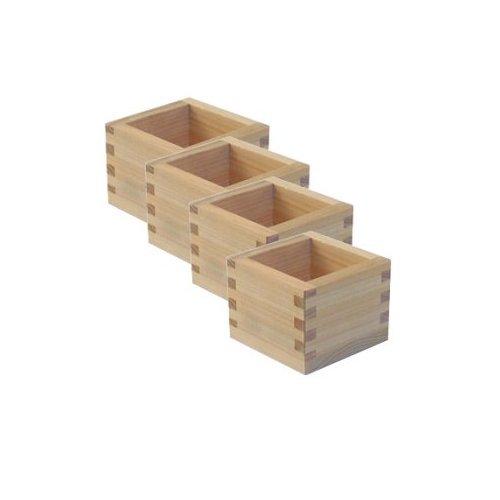 4 Pack Of Masu Wooden Sake Cup Large 2 1/2
