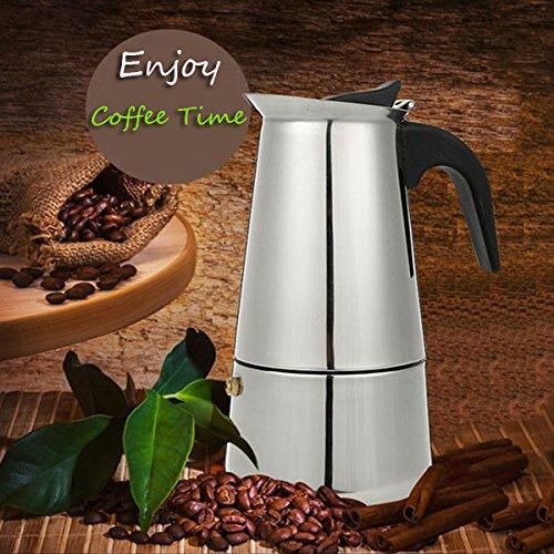 6 Cup 300ml Stainless Steel Moka Espresso Latte Percolator Stove Top Coffee Maker Pot