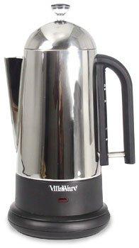 Villaware Stainless Steel Percolator 12 Cup