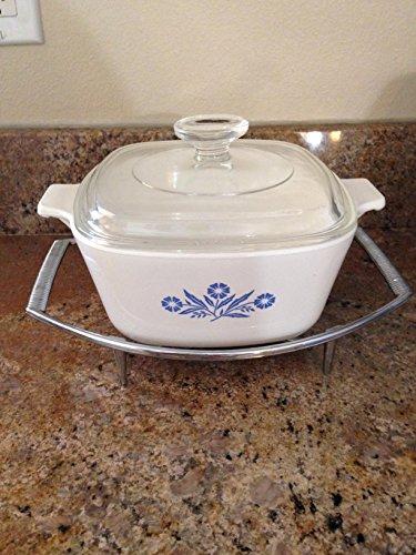 Vintage Corning Ware P-1-34-B Cornflower Casserole Baking Dish 175 quart with lid