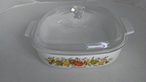 Vtg Corning Ware A-8-B Spice of Life Casserole Dutch oven Baking Dish 15 qt LID