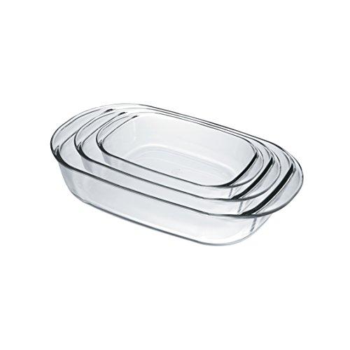 Duralex 9056AS03 Oven Chef Glass Rectangular Baking DishesRoasters Set of 3