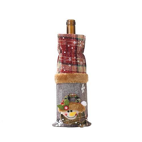 Wine Bottle Decoration Burlap Snowman Bottle Cover Wine Cover Beam Port