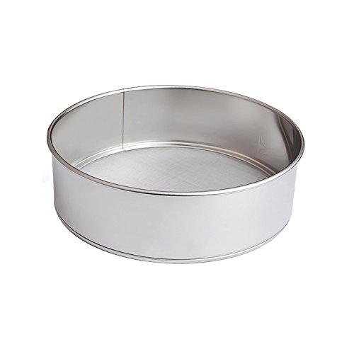 Gabkey Mesh Round Flour Powder Sugar Coco Chocolate Powder Dusting Shaker Sifter Tea Strainer Sieve Stainless Steel 40 Mesh 27cm