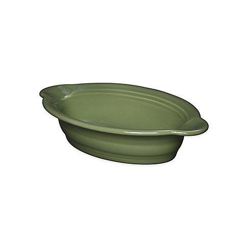 Fiesta Ceramic Oval Individual Casserole Dish 17 oz in Sage