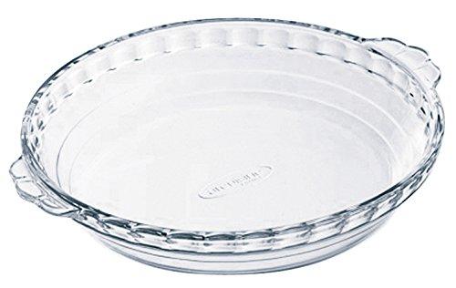 Arcuisine Borosilicate Glass Pie Dish whandles 865 Inches 22 Centimeter 11 Liter