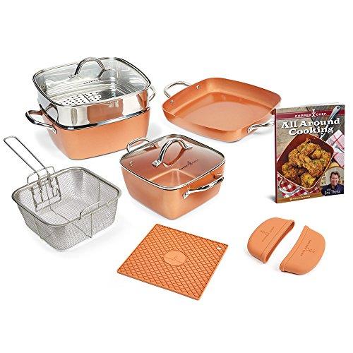 Copper Chef 12 Piece Square Casserole Cookware Set