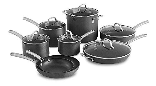 Calphalon Classic Nonstick Cookware Set 14-piece Grey 1943336