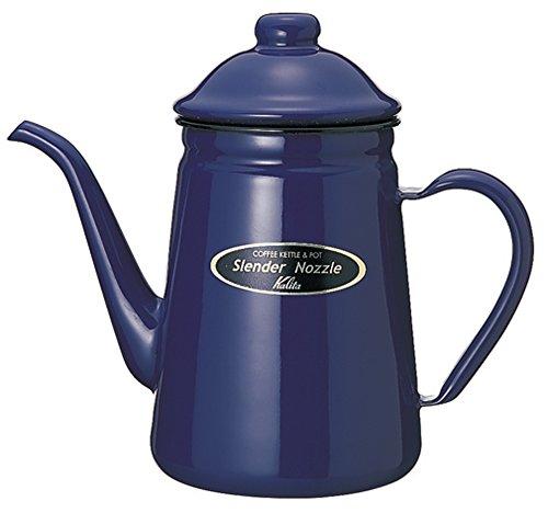 Kalita 1L narrow opening blue enamel pot