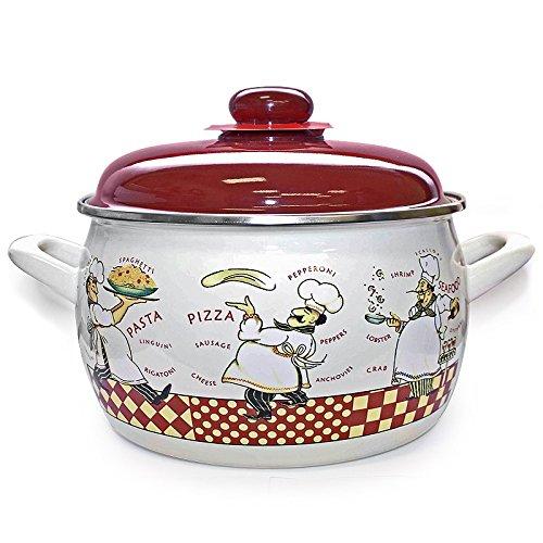 Kitchen Boy Enamel Cooking Pot 4 Liters