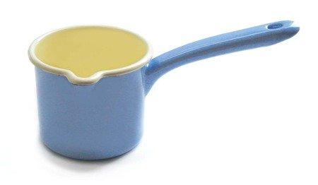 Riess Enamelware Blue Spouted Milk Pot 05 Liter