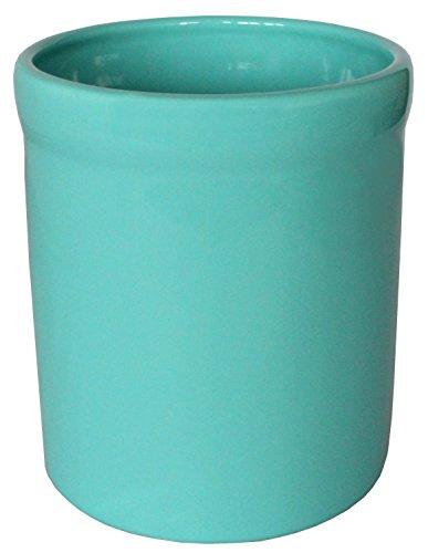 American Mug Pottery Ceramic Utensil Crock Utensil Holder Made in USA Turquoise