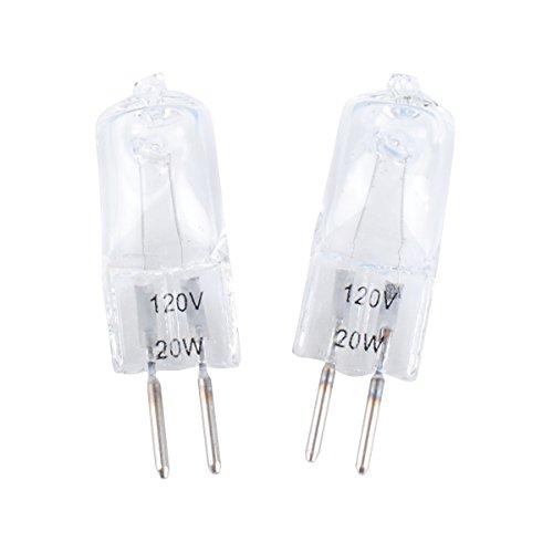 Wadoy WB36X10213 WB25X10019 GE Microwave Light Bulbs 20W Halogen Lamp Bulb 120V 20-Watt Replacement for GE WB08X10050 WB36X10246  2Packs