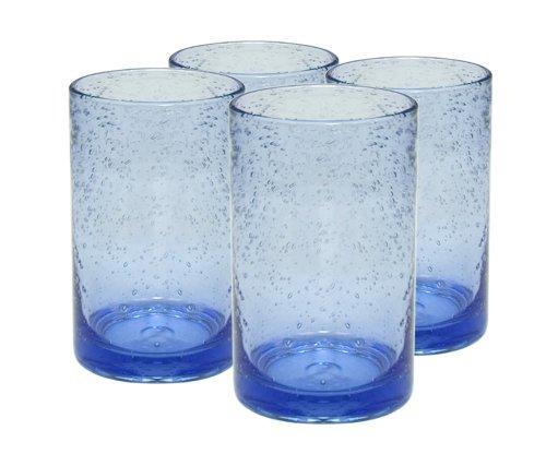 Artland Iris Highball Glasses, Light Blue, Set Of 4