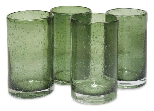 Artland Iris Highball Glasses, Sage, Set Of 4