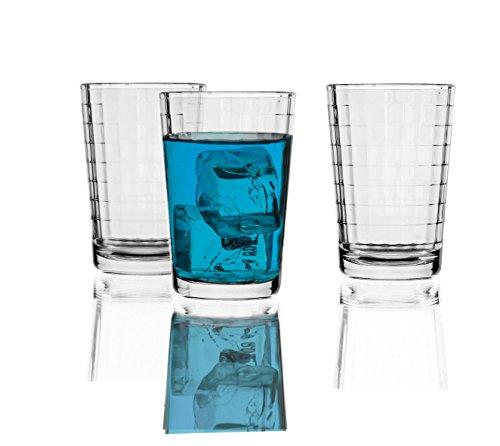 "Circleware ""windowpane"" 7oz Juice Glass Set, 6-piece"