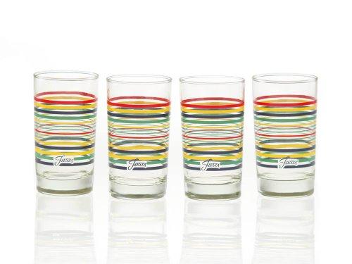 Fiesta Multi-color Stripe Glassware, 7-ounce Juice Glass, Set Of 4