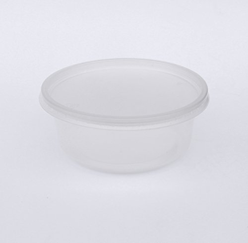 100 Clear Deli Containers Durable Plastic Storage Containers with Lids Hot and Cold Disposable Containers Use for Any Food of Your Choice 8oz