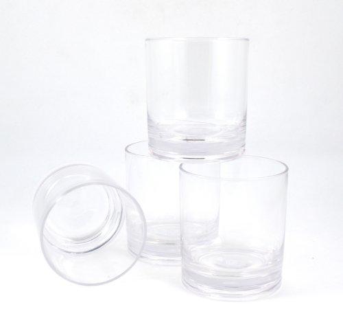 Winetanium Unbreakable Double Old Fashioned (dof) 14 Oz Glasses - 100% Tritan - Shatterproof, Reusable, Dishwasher