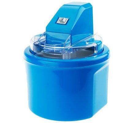 Cooks Essentials 1 qt Fully Automatic Ice Cream Maker Blue