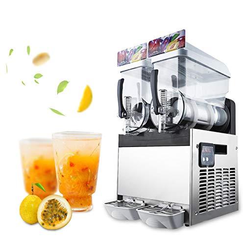 Dyna-Living Slush Machine Commercial 2 Bowls 30L79Gal Slushy Margarita Machine Beverage Iced Fruit Juice Dispenser Frozen Drink Maker Ice Slushies for Supermarkets Cafes Restaurants Snack Bars