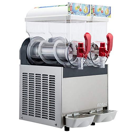 Kolice 2X15L Tanks Commercial ice Slush Machine Margarita Frozen Drink Cooling Beverage Making Machine ice Slush Maker Frozen Drink Slushie Machine Cooling Slushie Juice Machine