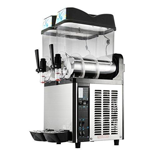 LOVSHARE 12Lx2 Tanks Frozen Drink Machine 2300W Commercial Smoothie Maker Cooling Slush Making Machine Commercial Slushy Maker 12Lx2 tanks