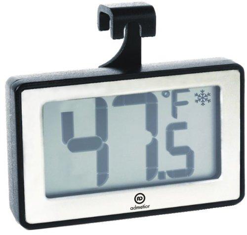 Admetior Stainless Steel Digital FridgeFreezer Thermometer