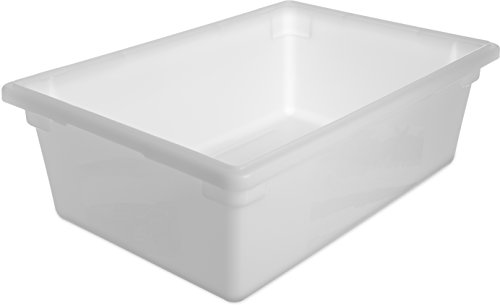 Carlisle 1064202 StorPlus Polyethylene Food Storage Box 125 Gallon Capacity White Case of 4