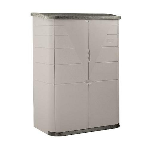 Rubbermaid Plastic Vertical Outdoor Storage Shed 52-Cubic Foot Beige FG374601OLVSS Discontinued by Manufacturer