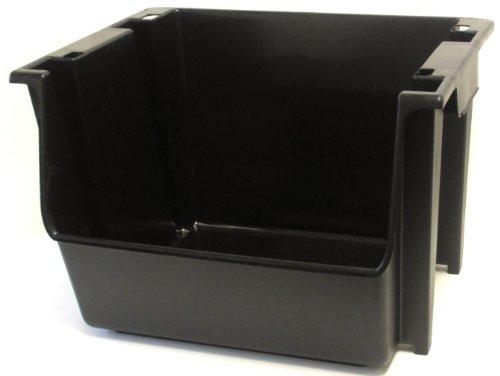 United Solutions SB0041 Large Plastic NestingStacking Storage Bin Black