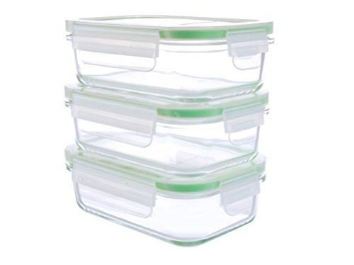 Kinetic 6 Piece Glassworks Series Oven Safe Rectangular Food Storage Set 14 oz Clear